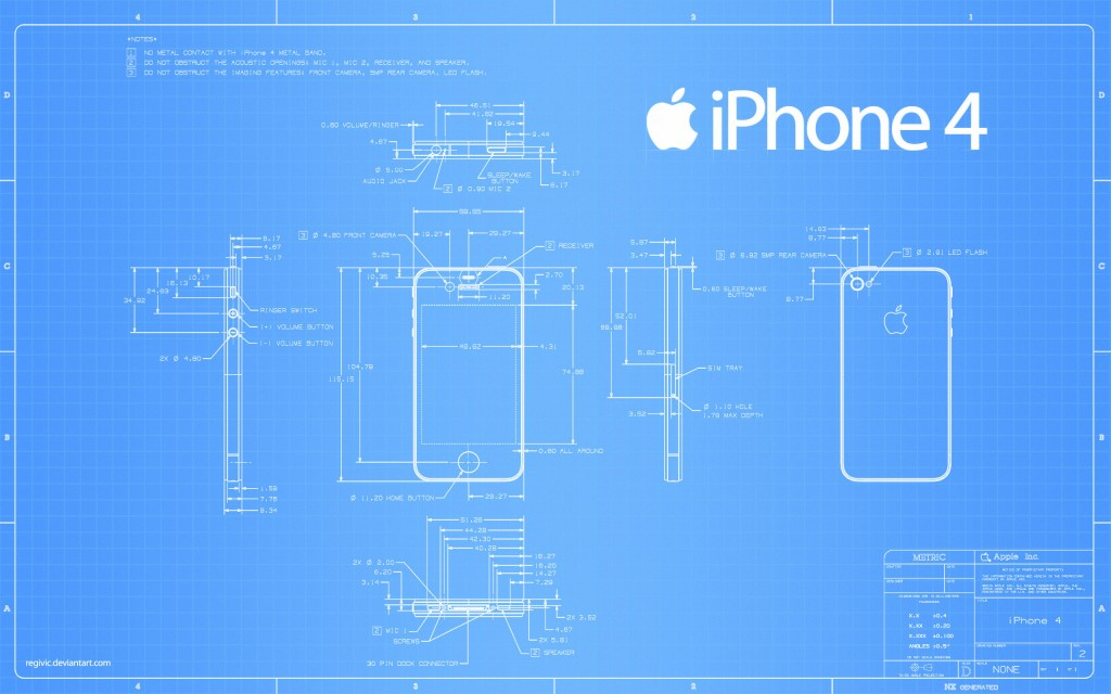 Amazing-Apple-i-phone-4-structure-widescreen-hd-wllpapers-with-blue-backgrounds-2560-x-1600